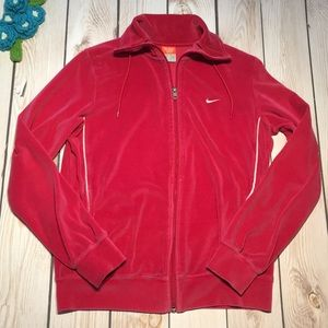 Nike women's velour track jacket
